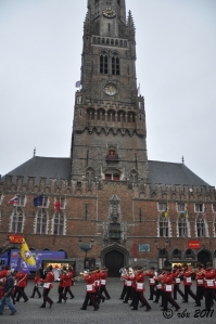 The band in front of Markt & Belfry